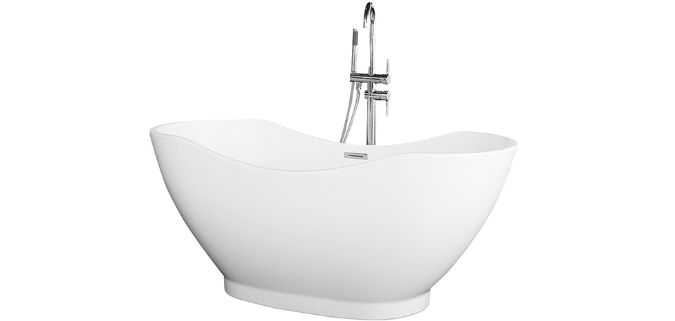 Buy White acrylic free-standing bathtub - Felipe White 58301 - in the UK
