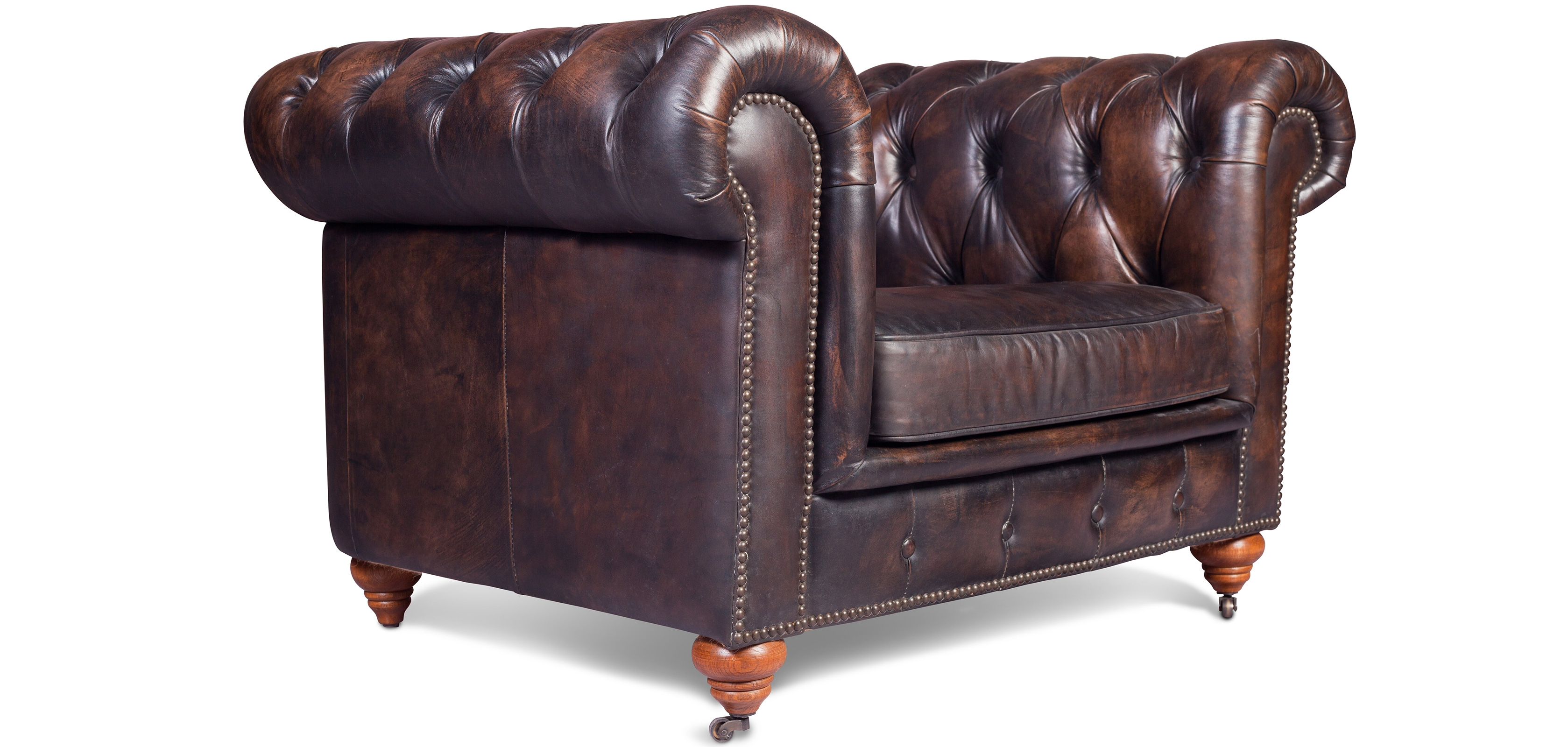 Buy Vintage Chesterfield Armchair - Premium Leather ...