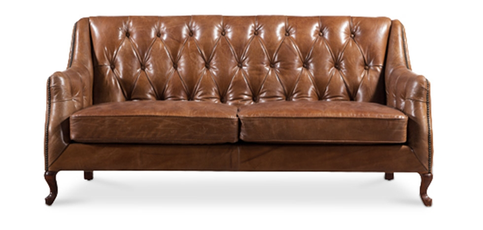 Buy Classic vintage leather sofa Brown 58620 - in the UK