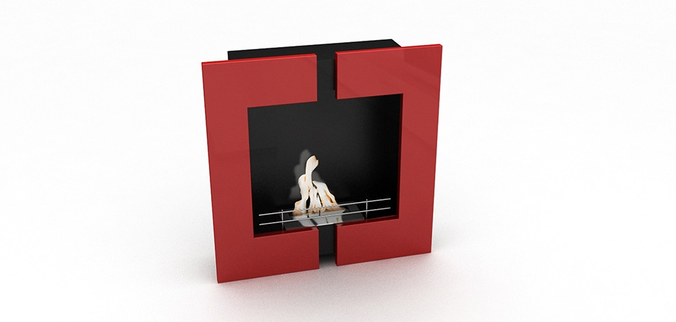 Buy Contemporary Wall-Mounted Ethanol Fireplace - VPF-FD62-RED Red 17084 - in the UK