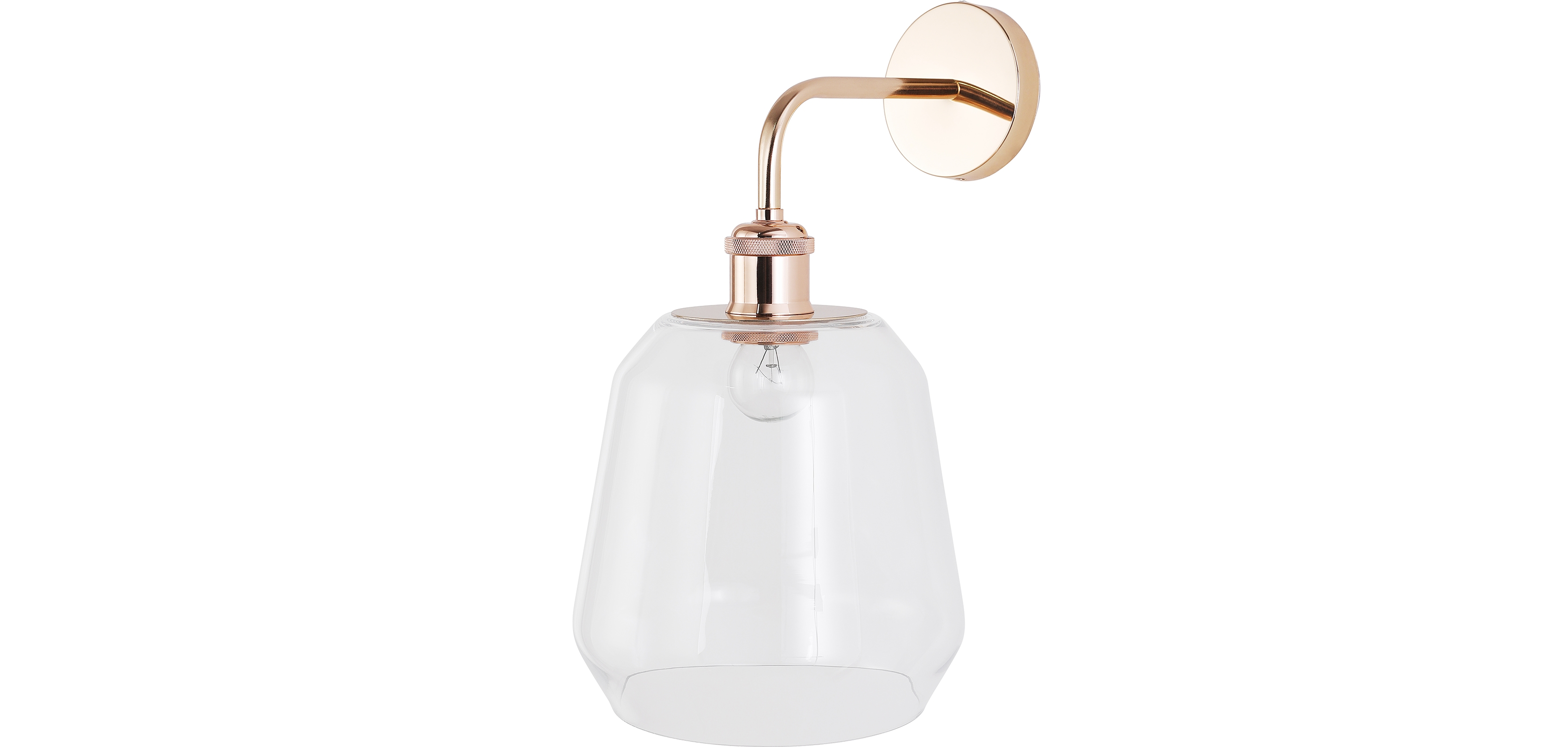 Buy Alessia wall lamp - Crystal and metal Transparent 59343 - in the UK